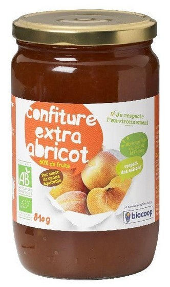 Confiture d'abricot extra 810g