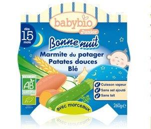babybio junior bonne nuit marmite du potager patates douces bl d s 15 mois 260g gap. Black Bedroom Furniture Sets. Home Design Ideas