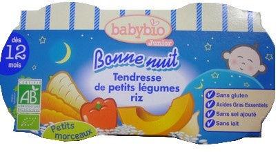 babybio junior bonne nuit tendresse de petits l gumes et riz d s 12 mois 2x200g gap. Black Bedroom Furniture Sets. Home Design Ideas